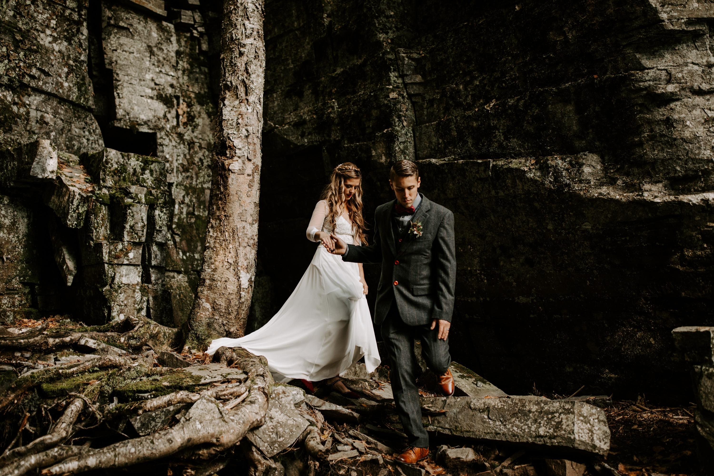 Michigan Waterfall Wedding