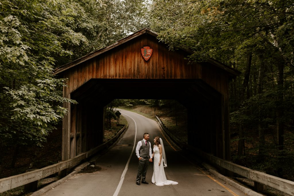 Intimate elopement in Michigan's state parks
