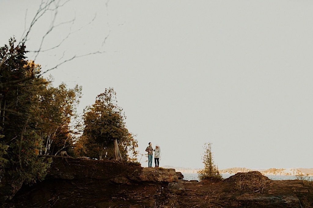 Michigan hiking engagement photos
