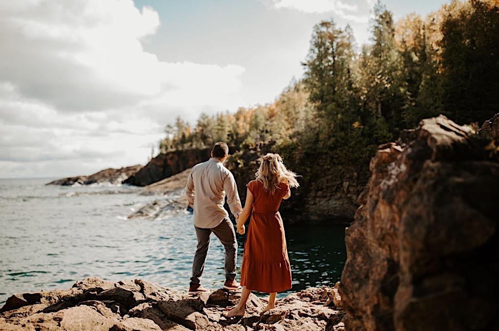 Hidden beach engagement photos