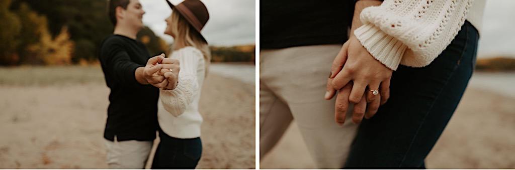 Engagement photos at Hidden Beach in Michigan's Upper Peninsula